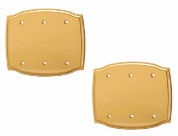 <PRE>2 Switchplate Bright Solid Brass Triple Blank </PRE>zoom1