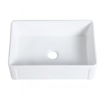 <PRE>30inch Large White Apron Front Farmhouse Kitchen Sink Gloss Finish Stain Resistant</PRE>zoom5