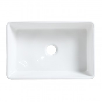 <PRE>30inch Large White Apron Front Farmhouse Kitchen Sink Gloss Finish Stain Resistant</PRE>zoom6