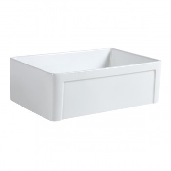 Farmhouse Kitchen Sink Porcelain Vitreous China 30 White