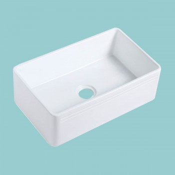 <PRE>30inch Large White Kitchen Farmhouse Sink Grade A Vitreous China Gloss Finish</PRE>zoom2
