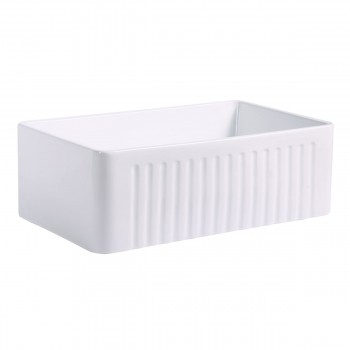 <PRE>30inch Large White Kitchen Farmhouse Sink Grade A Vitreous China Gloss Finish</PRE>zoom4