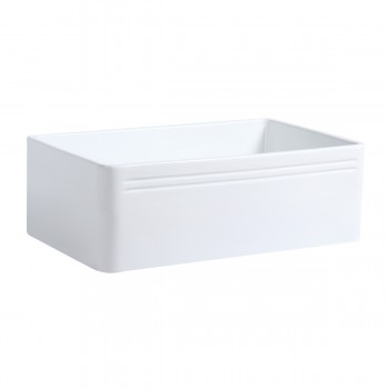 30 Large White Kitchen Farmhouse Sink Grade A Vitreous China Gloss Finish