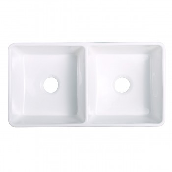 <PRE>33inch X 10&quot; Large White Porcelain Kitchen Farmhouse Sink Double Basin Gloss</PRE>zoom5