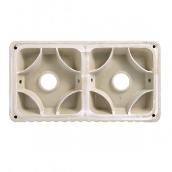 <PRE>33inch X 10&quot; Large White Porcelain Kitchen Farmhouse Sink Double Basin Gloss</PRE>zoom7