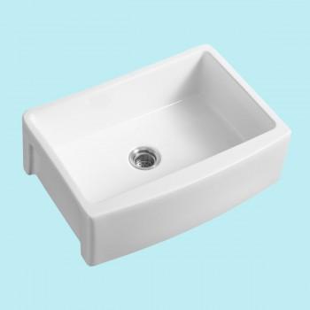 <PRE>Heavy Duty Round Apron Farmhouse Sink White Grade A Porcelain Includes Drain  </PRE>