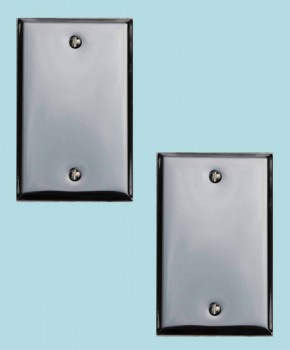 <PRE>2 Switchplate Chrome Single Blank </PRE>zoom2