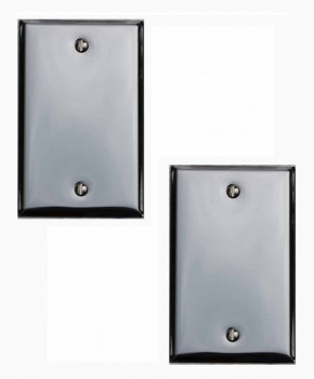 2 Switchplate Chrome Single Blank Switch Plate Wall Plates Switch Plates