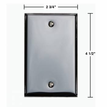 spec-<PRE>2 Switchplate Chrome Single Blank </PRE>