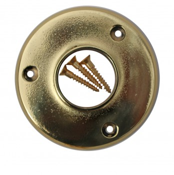 <PRE>Solid Brass 4&quot; Wall Flange Fitting 1.5&quot; Bar Rail </PRE>