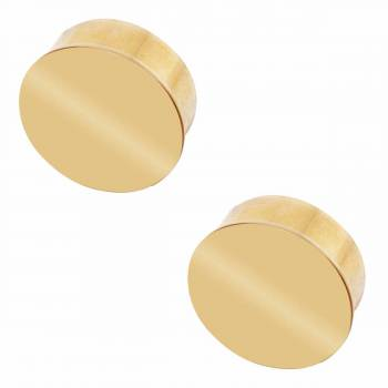 2 Flat End Caps for 2 Dia Tube Solid Polished Brass Set of 2 Tubing End Caps End Caps for Tubing Railing Caps