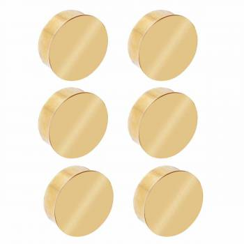 <PRE>6 Flat End Caps for 2inch Dia Tube Solid Polished Brass Set of 6 </PRE>zoom1