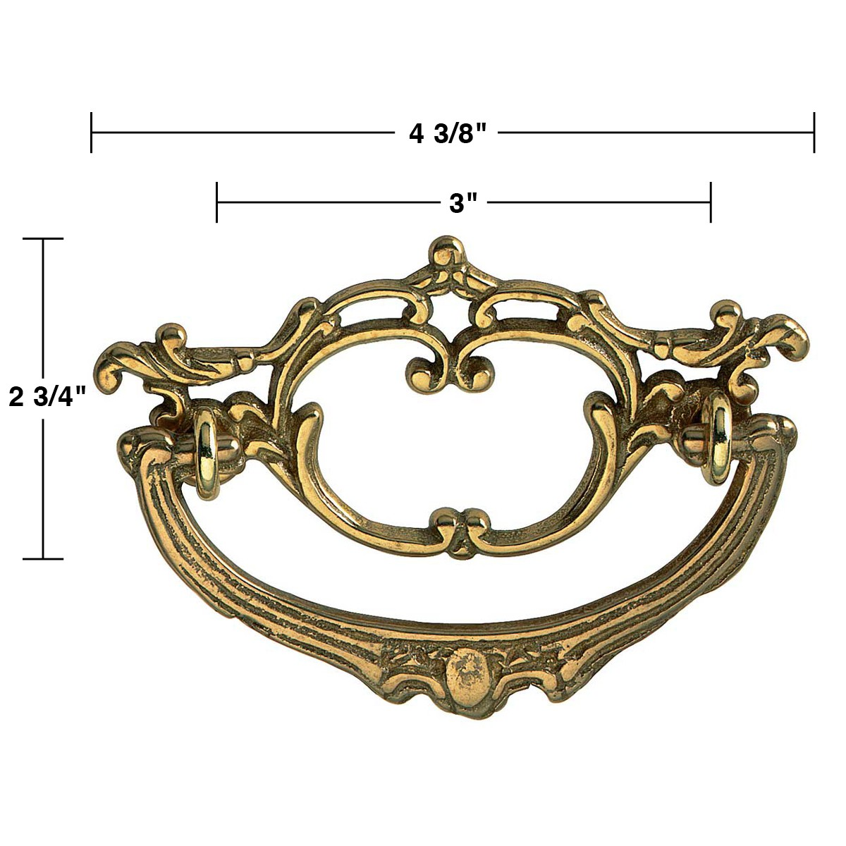 bright solid brass arbor bail pull 4