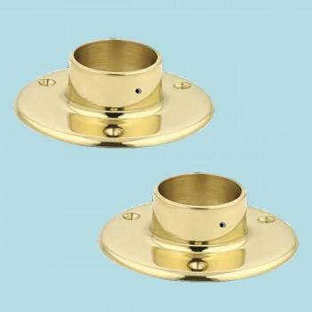 "<PRE>2 5inch Floor Flange Solid Brass Fits 2"" Tubing Bracket </PRE>zoom2"