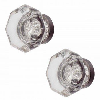 Crystal Clear Crystal Crystal Cabinet Hardware 1 in. dia. Knob Pewter