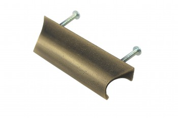 <PRE>6 Bin Pulls Antique Solid Brass Distressed  </PRE>