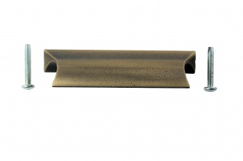 <PRE>6 Bin Pulls Antique Solid Brass Distressed  </PRE>zoom5
