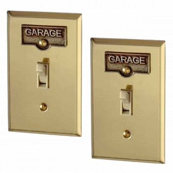 <PRE>2 Switch Plate Tags GARAGE Name Signs Labels Antique Brass </PRE>zoom1