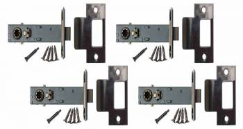 <PRE>4 Stainless Steel Backset Latch Set 2.75inch </PRE>zoom1