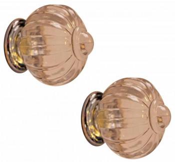 <PRE>2 Cabinet Knob Clear Acrylic 1 1/2inch Dia W/ Chrome Back </PRE>zoom1