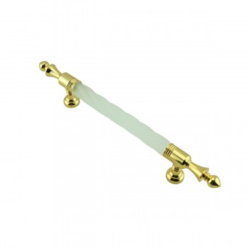 <PRE>2 Cabinet Pull White Acrylic Cabinet Pull Twisted, 3-3/4inch boring</PRE>zoom5