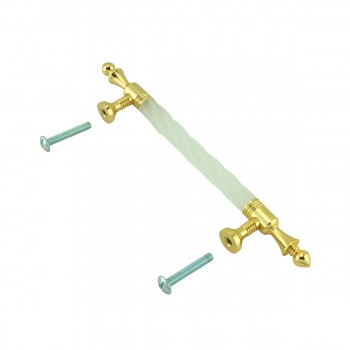 <PRE>2 Cabinet Pull White Acrylic Cabinet Pull Twisted, 3-3/4inch boring</PRE>zoom6