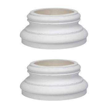 Column White Urethane Base 360 Degree Set of 2 Columns Urethane Column Urethane Columns