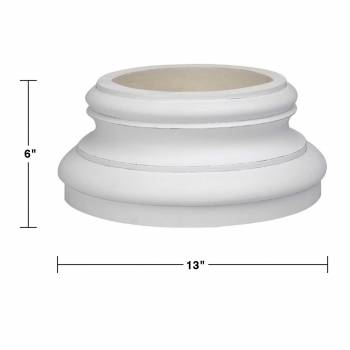 spec-<PRE>Column White Urethane Base 360 Degree Set of 2</PRE>