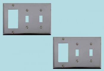<PRE>2 Switchplate Chrome Double Toggle GFI </PRE>zoom2