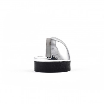 <PRE>4 Brass Door Stop Dome Floor Mount Bumper Chrome </PRE>zoom6