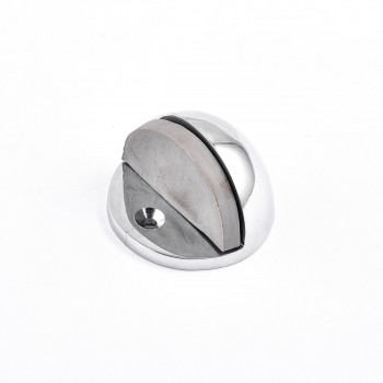<PRE>4 Brass Door Stop Dome Floor Mount Bumper Chrome </PRE>zoom7