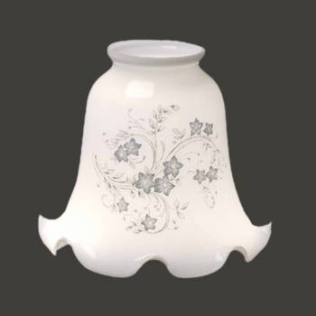 <PRE>Glass Lamp Shade Blue Floral Tulip Glass 4.5inchHx 2.25&quot; Fitter</PRE>zoom2