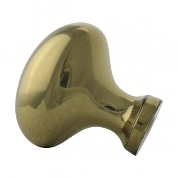 <PRE>Solid Brass Oval Polished Cabinet Knob Set of 6 1-1/4inch </PRE>zoom9