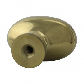 <PRE>Solid Brass Oval Polished Cabinet Knob Set of 6 1-1/4inch </PRE>zoom10