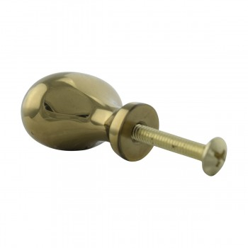 <PRE>Solid Brass Oval Polished Cabinet Knob Set of 6 1-1/4inch </PRE>zoom6