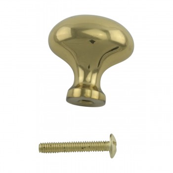 <PRE>Solid Brass Oval Polished Cabinet Knob Set of 6 1-1/4inch </PRE>zoom7