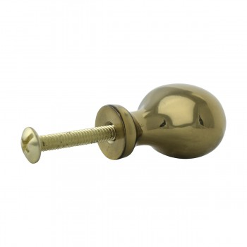 <PRE>Solid Brass Oval Polished Cabinet Knob Set of 6 1-1/4inch </PRE>zoom11