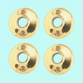 sc 1 th 225 & 4 Pairs Colonial Door Rosettes Solid Brass Passage Knob 2