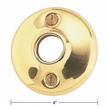 spec-<PRE>4 Pairs Colonial Door Rosettes Solid Brass Passage Knob 2&quot; </PRE>