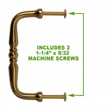 spec-<PRE>6 Cabinet Pulls Bright Solid Brass Spooled </PRE>