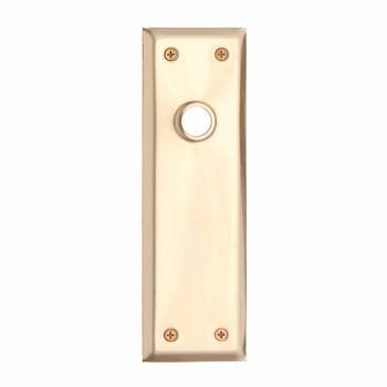 <PRE>2 Door Back Plate Bright Solid Brass Colonial Keyhole Set of 2</PRE>