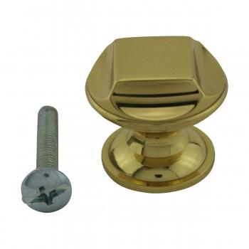"""<PRE>6  Cabinet Knob Bright Cast Brass 1inch Dia X 7/8"""" Proj </PRE>zoom3"""