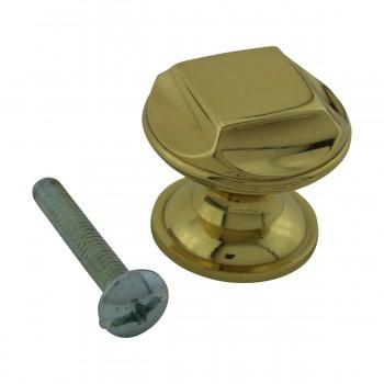 """<PRE>6  Cabinet Knob Bright Cast Brass 1inch Dia X 7/8"""" Proj </PRE>zoom4"""