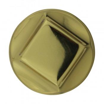"""<PRE>6  Cabinet Knob Bright Cast Brass 1inch Dia X 7/8"""" Proj </PRE>zoom5"""