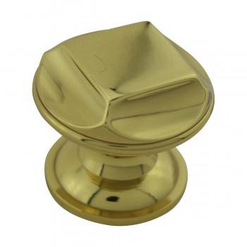 """<PRE>6  Cabinet Knob Bright Cast Brass 1inch Dia X 7/8"""" Proj </PRE>zoom6"""