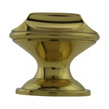 """<PRE>6  Cabinet Knob Bright Cast Brass 1inch Dia X 7/8"""" Proj </PRE>zoom7"""