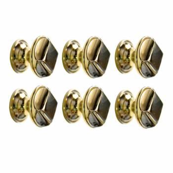 """<PRE>6  Cabinet Knob Bright Cast Brass 1inch Dia X 7/8"""" Proj </PRE>zoom1"""