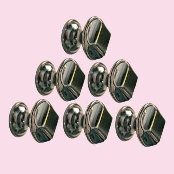 <PRE>6 Cabinet Knob Nickel Black Cast Brass 1inch Dia </PRE>zoom2