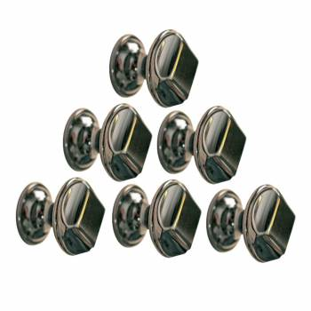 6 Cabinet Knob Nickel Black Cast Brass 1 Dia
