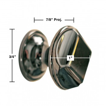 "spec-<PRE>6 Cabinet Knob Nickel Black Cast Brass 1"" Dia </PRE>"